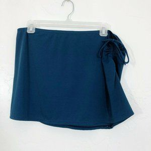 J. Crew Teal Green Ruched Side Pull On Swim Skirt